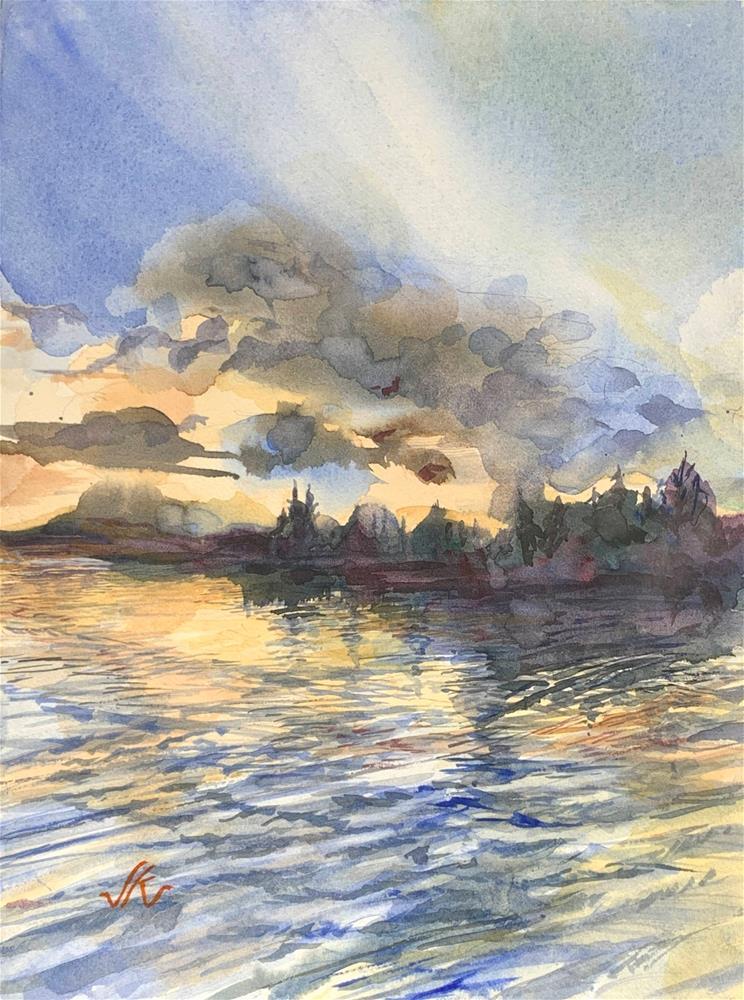 """Lake Adirondak 2020"" original fine art by Jean Krueger"