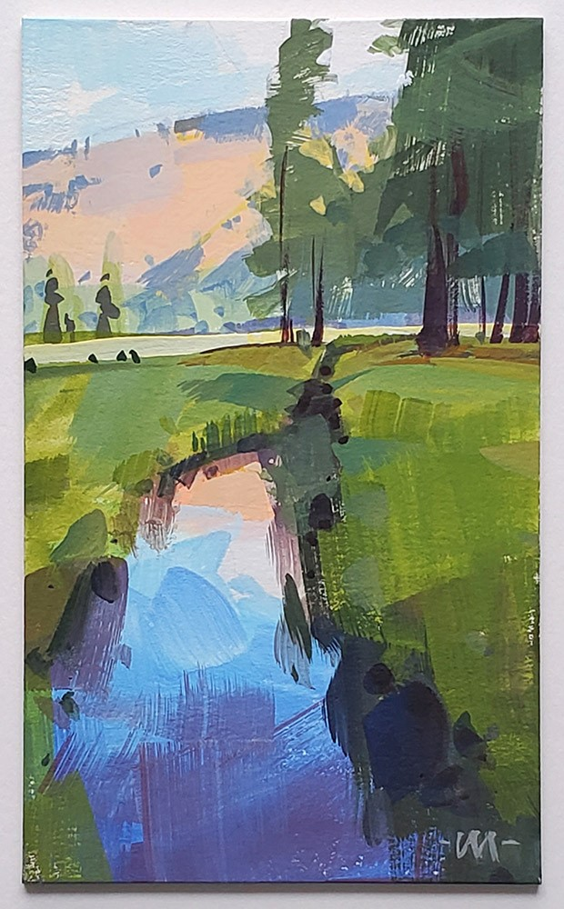 """Watering Hole"" original fine art by Carol Marine"