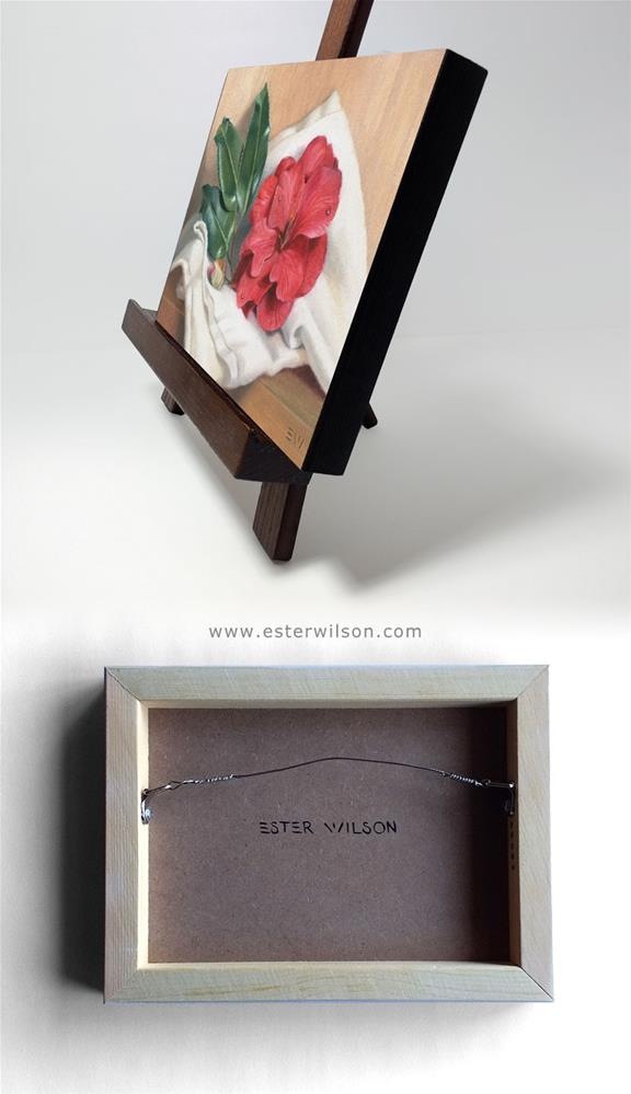 """Wax Leaf Camellia"" original fine art by Ester Wilson"