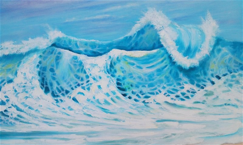 """Huge Wave"" original fine art by Camille Morgan"