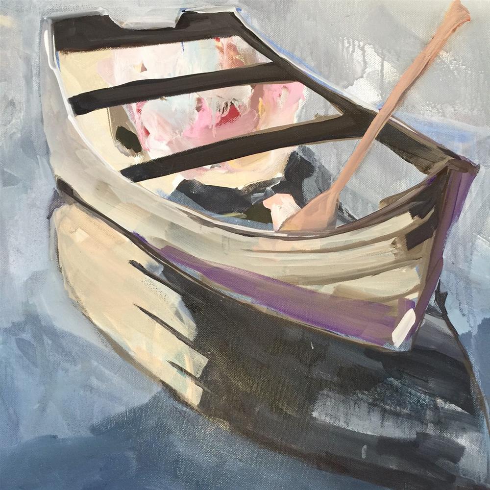 """""""589 Oars in Bloom"""" original fine art by Jenny Doh"""