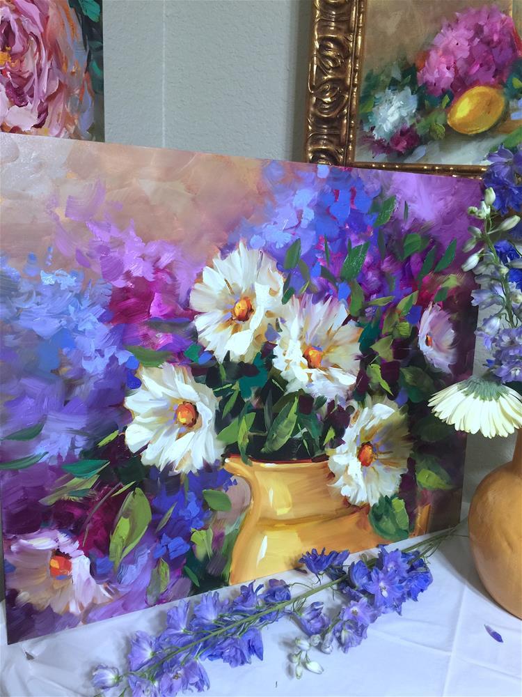 """Dream Seeker Daisies"" original fine art by Nancy Medina"