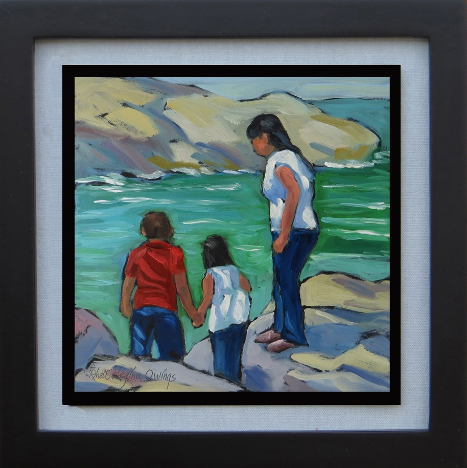 """Looking for Crabs"" original fine art by Rhett Regina Owings"