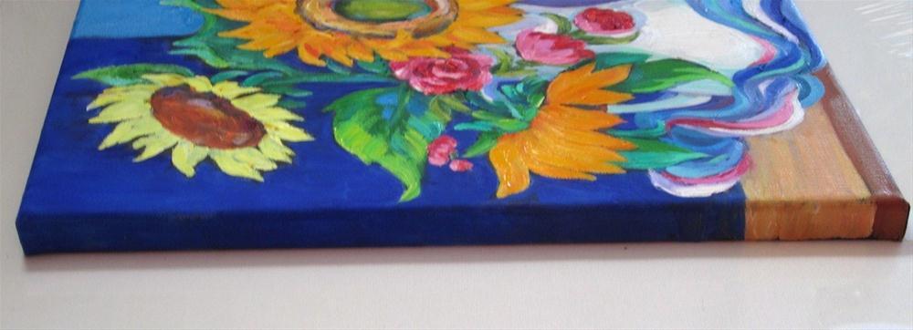 """Sunflowers, Tweaked!"" original fine art by Patricia Musgrave"