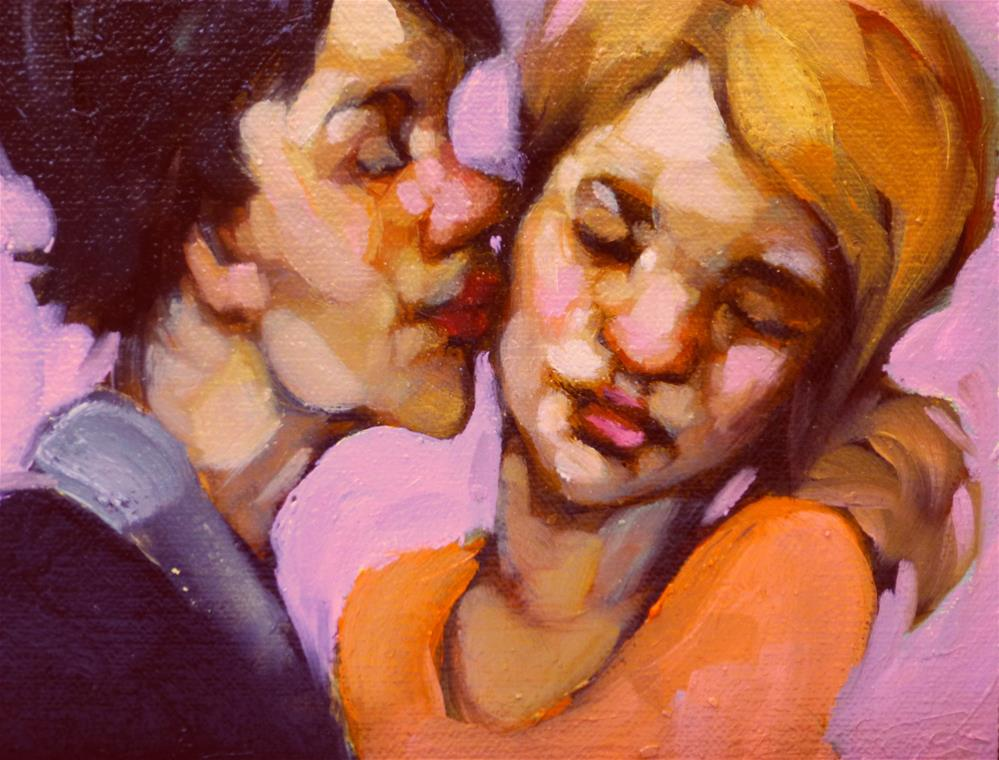 """Not On The Lips ...Again!"" original fine art by Kayleen Horsma"
