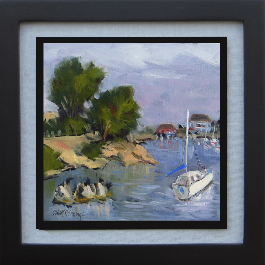 """Red Harbor House"" original fine art by Rhett Regina Owings"