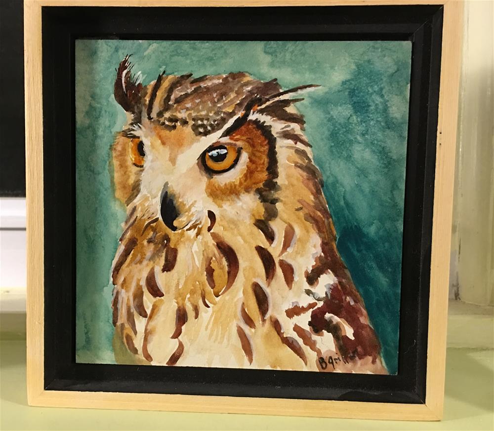 """""""Owl #2"""" original fine art by Bunny Griffeth"""
