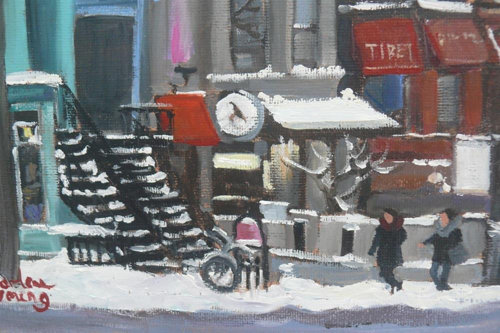 """Rue Saint Denis"" original fine art by Darlene Young"