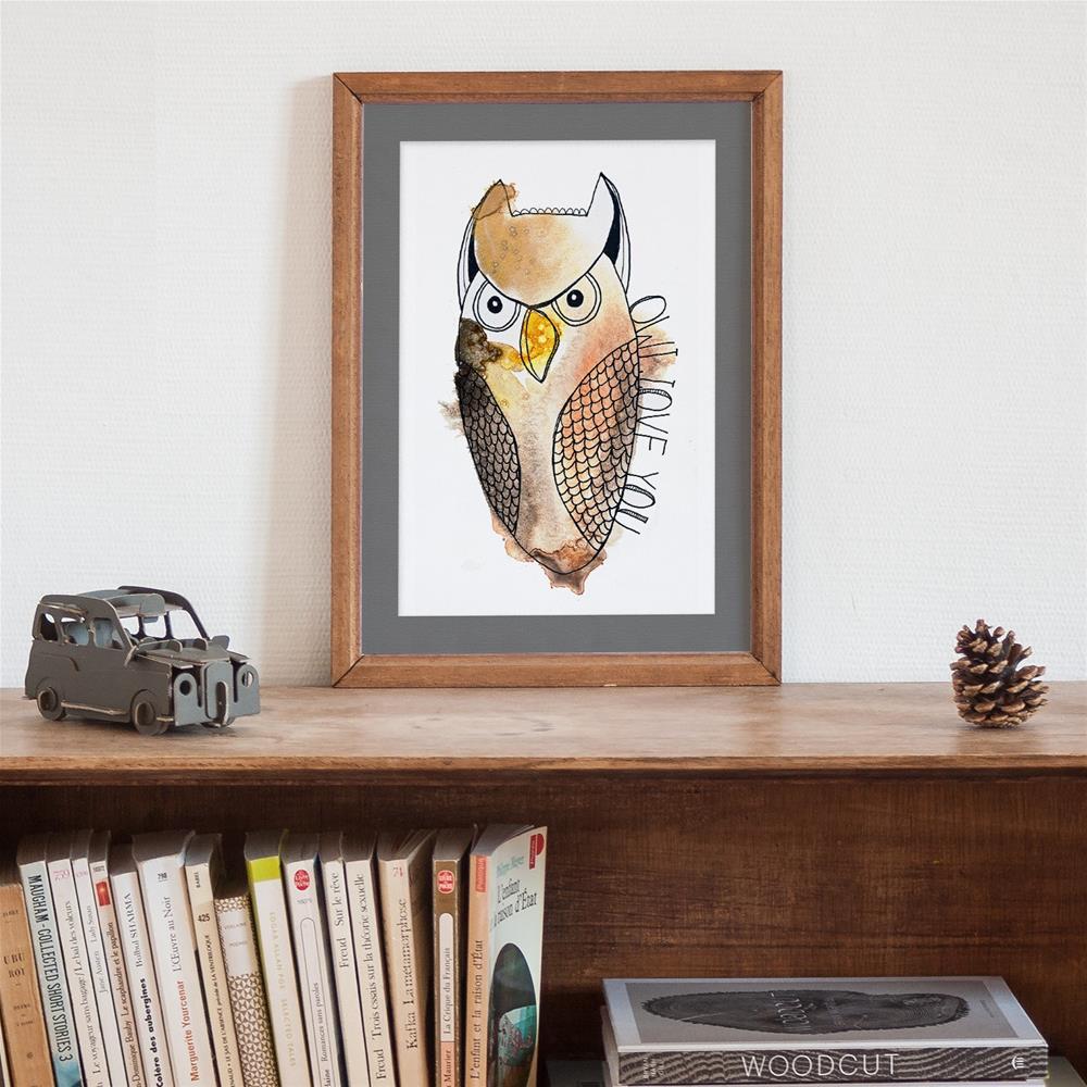 """Owl Love You"" original fine art by Tonya Doughty"