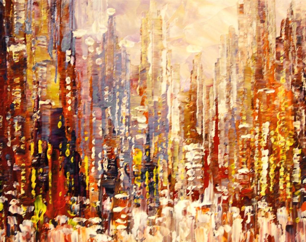 """Urban Enchantment"" original fine art by Tatiana Iliina"