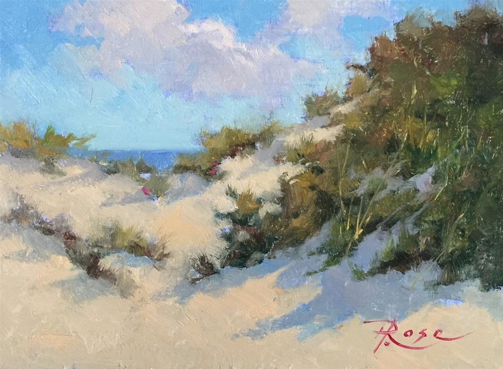 """Beach 4 jones beach"" original fine art by Howard Rose"