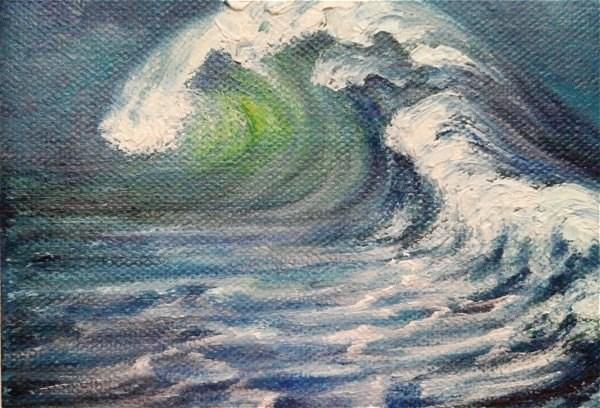 """Seascape Ocean Waves"" original fine art by Camille Morgan"