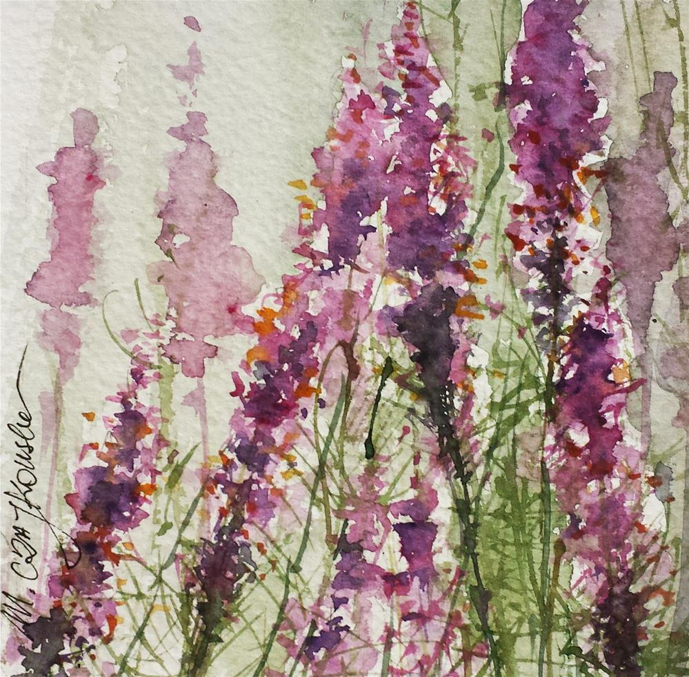 """Purple haze"" original fine art by Marlena Czajkowska"