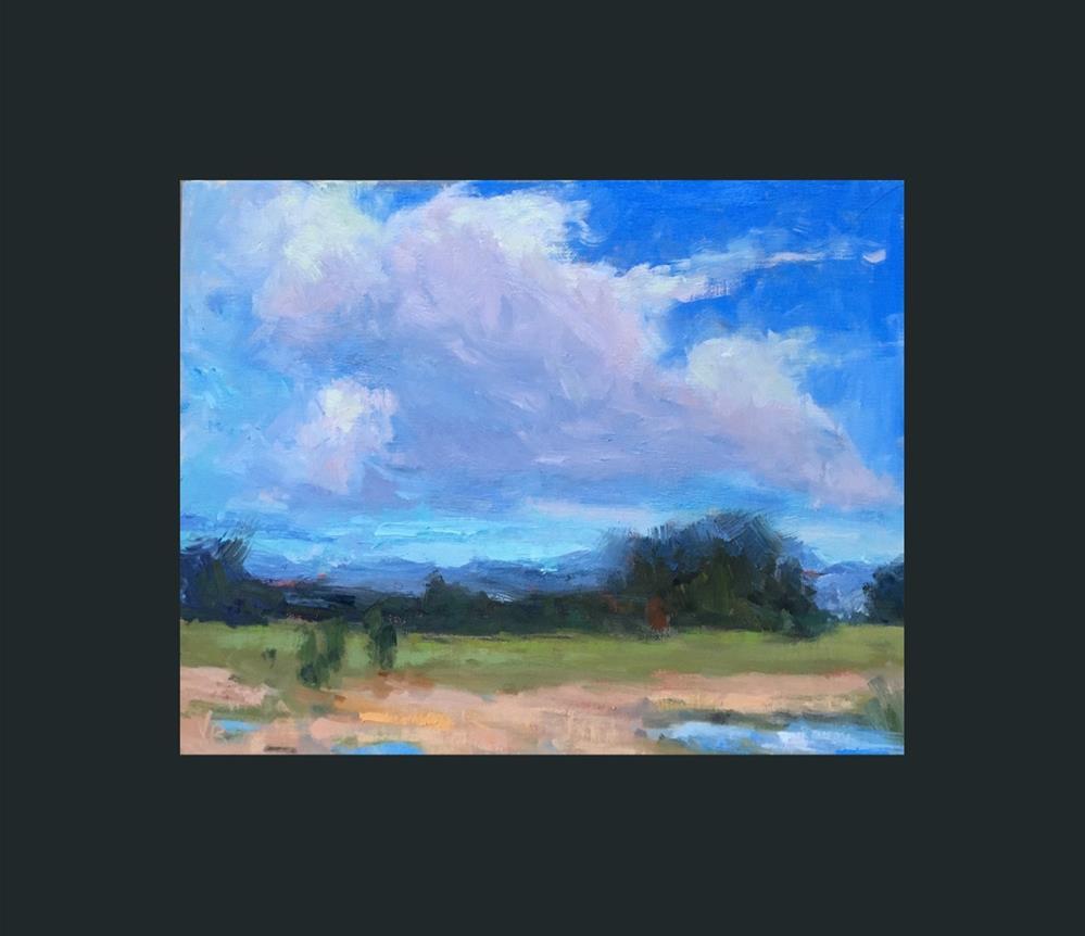 """Clouds on the Move"" original fine art by Victoria  Biedron"