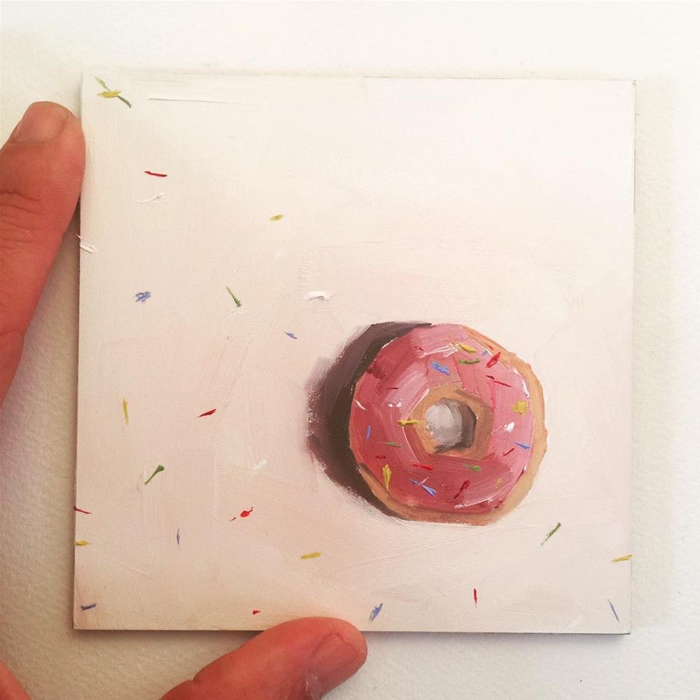 """""""505 Tardy Donut"""" original fine art by Jenny Doh"""