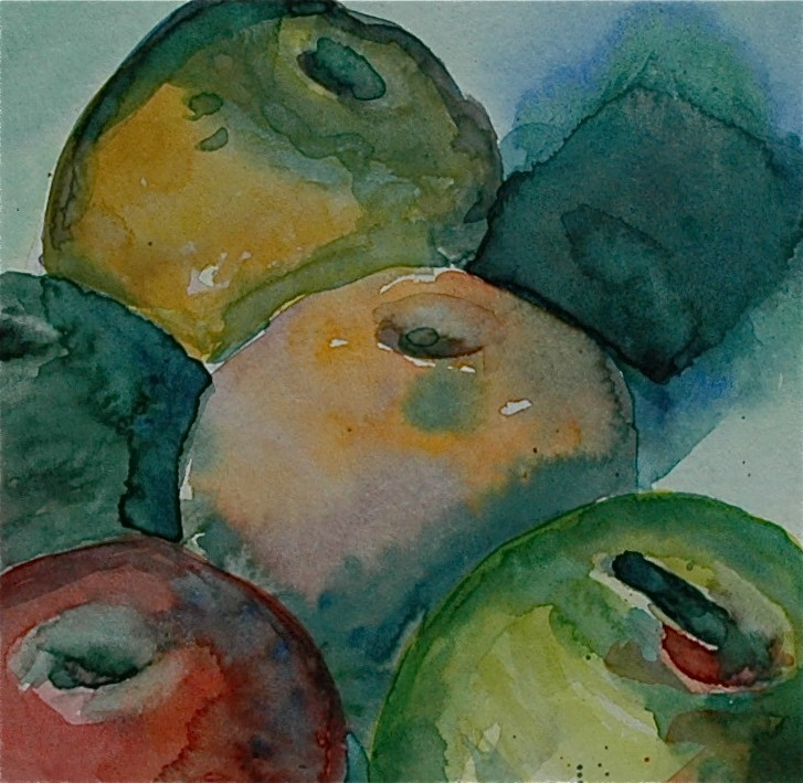 """Apples"" original fine art by Ulrike Schmidt"
