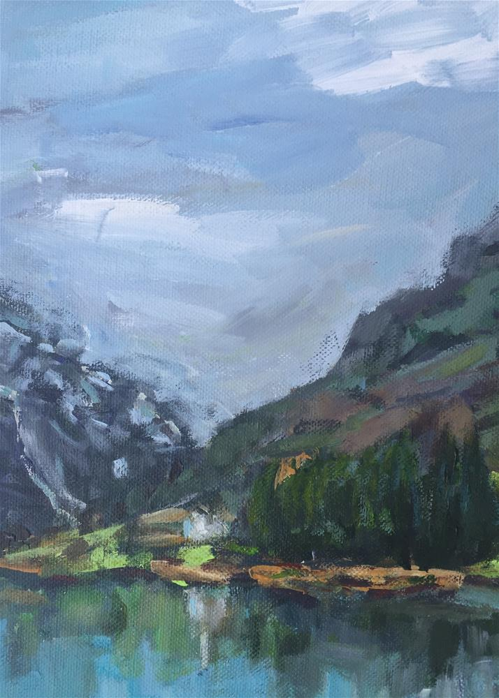 """naroyfjord-fjord-view-cruise-small-11x14"" original fine art by Alina Vidulescu"