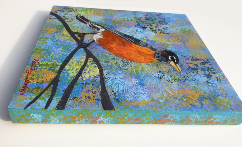 """Robin"" original fine art by Rhett Regina Owings"