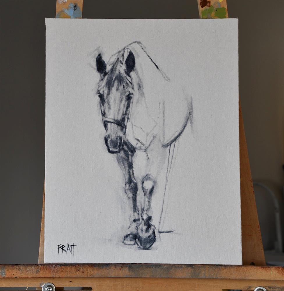 """""""Architecture of a Horse (Emerge Sketch Study)"""" original fine art by Jennifer Pratt"""