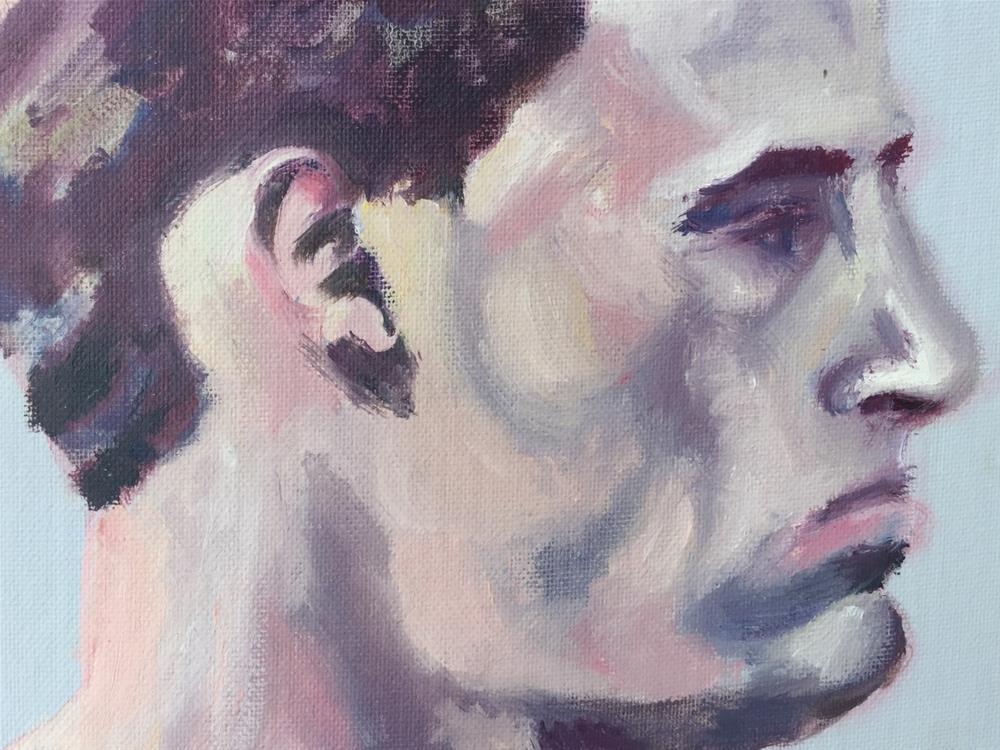 """Roman Profile"" original fine art by Garima Heath"