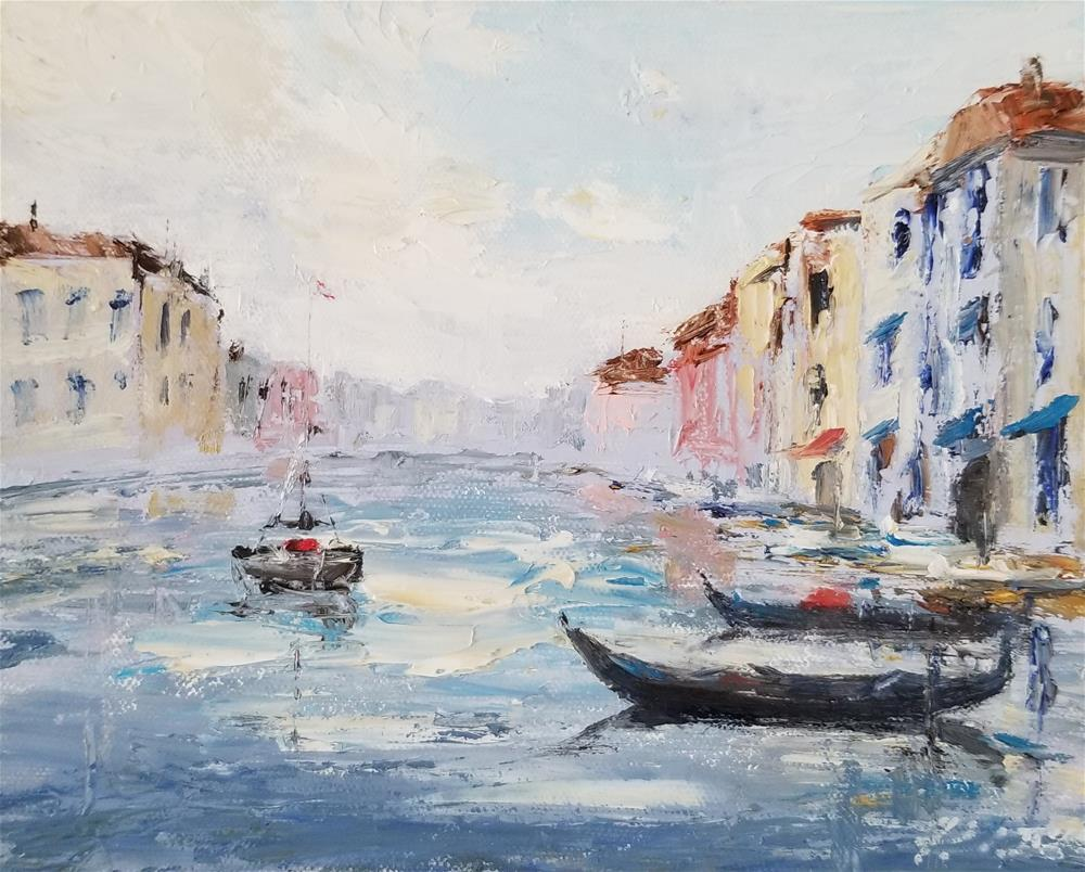 """Paris & Venice Pair"" original fine art by Peter Lee"