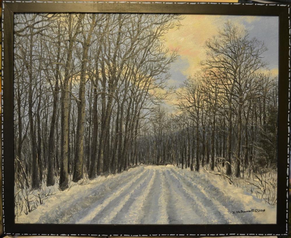 """Winter Road to the Gas Well"" original fine art by Kathleen McDermott"