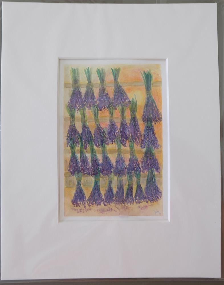 """Lavender Harvest"" original fine art by Laura Denning"