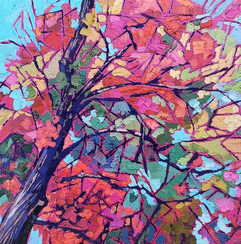 """Fall is Second Spring"" original fine art by Bhavna Misra"