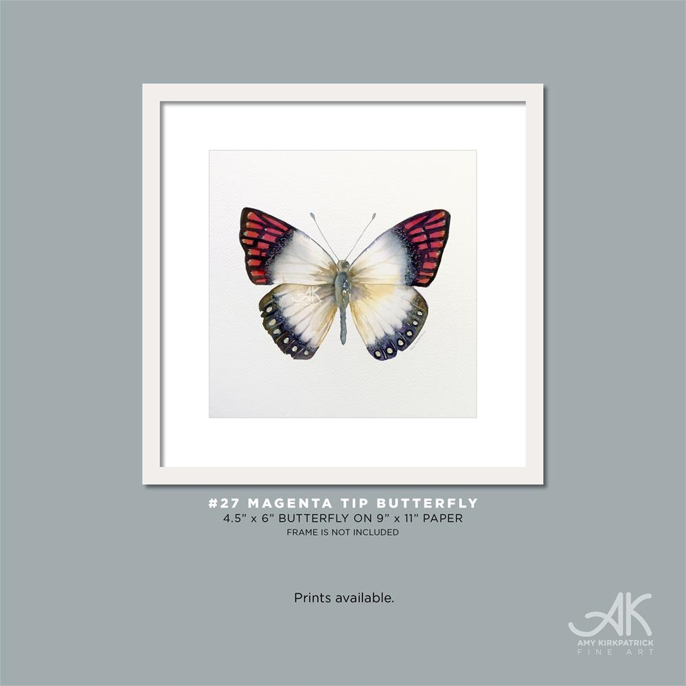 """#27 Magenta Tip Butterfly #0336"" original fine art by Amy Kirkpatrick"