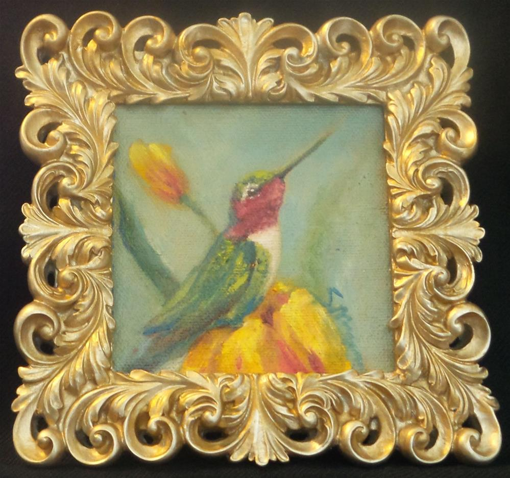 """Sweet Pea"" original fine art by Susie Monzingo"