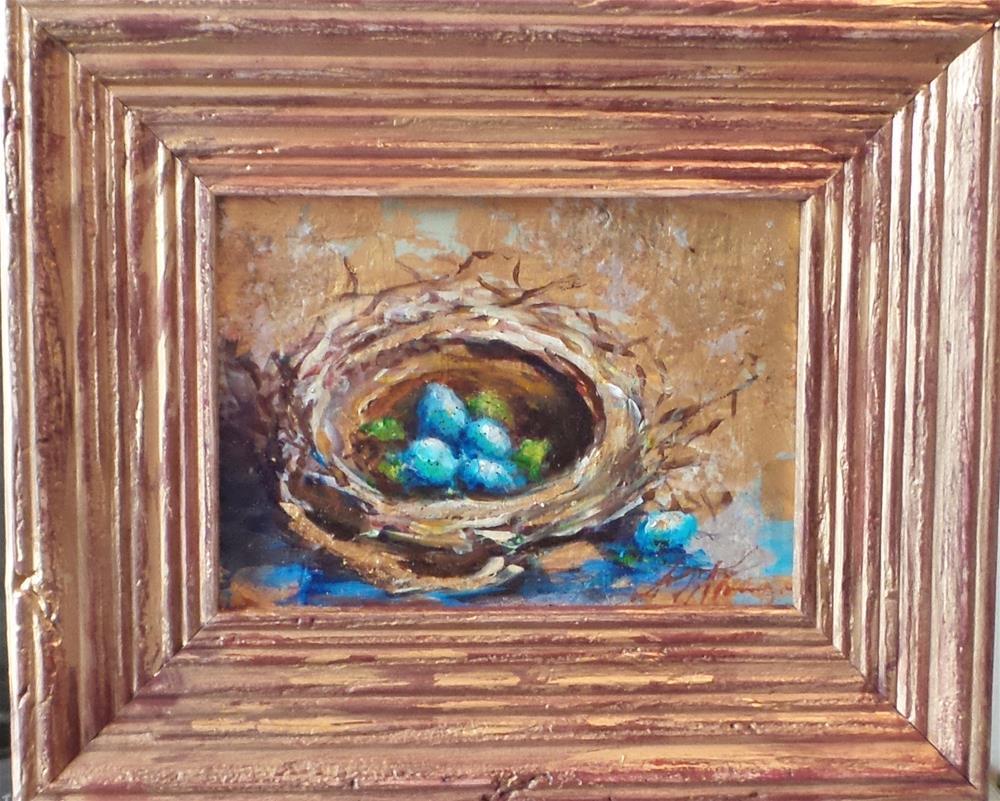 """""""The Golden Nest"""" original fine art by Susie Monzingo"""