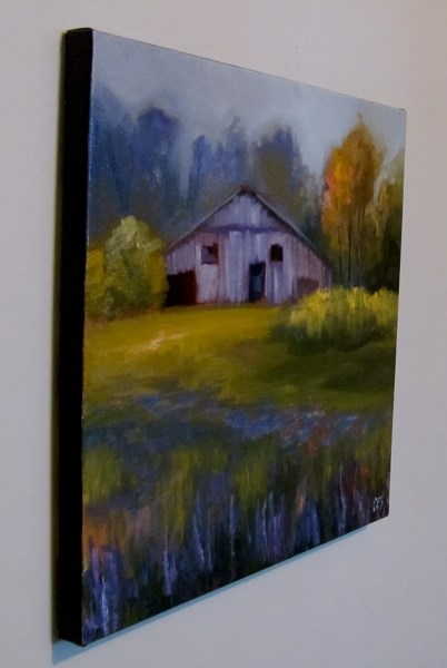 """Wildflowers and Old Barn"" original fine art by ~ces~ Christine E. S. Code"