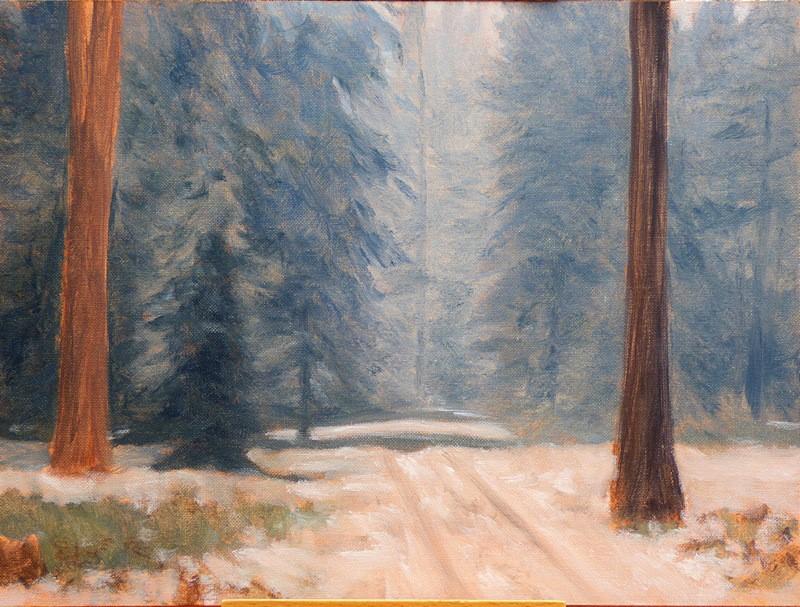 """""The Wonderful Snowfall of June the 9th"""" original fine art by Steven Thor Johanneson"