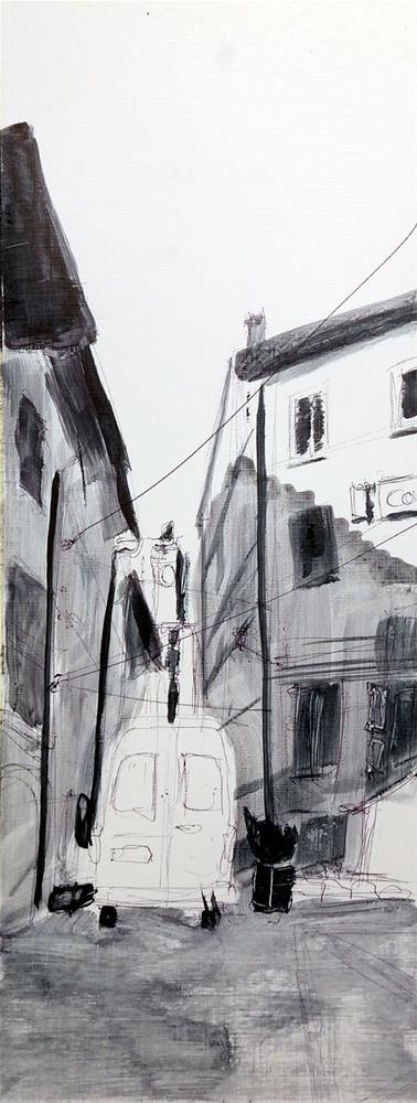 """2358 From Sketch to painting -Alley"" original fine art by Dietmar Stiller"
