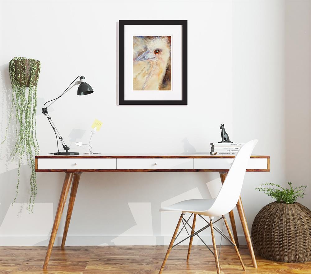 """""""Fair Maiden Emu"""" original fine art by Arti Chauhan"""