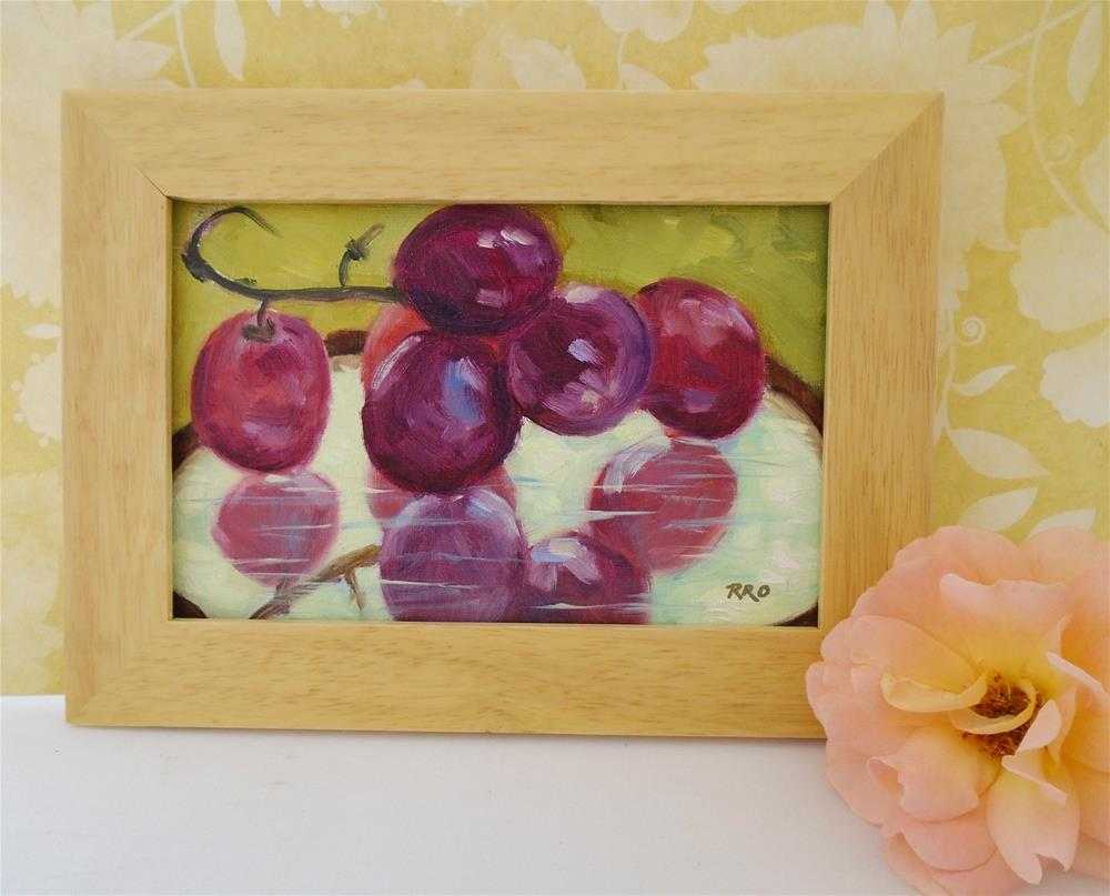 """Grapes on a Mirror"" original fine art by Rhett Regina Owings"
