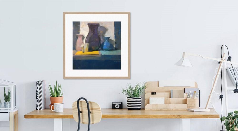 """Three Vases"" original fine art by Carol Marine"