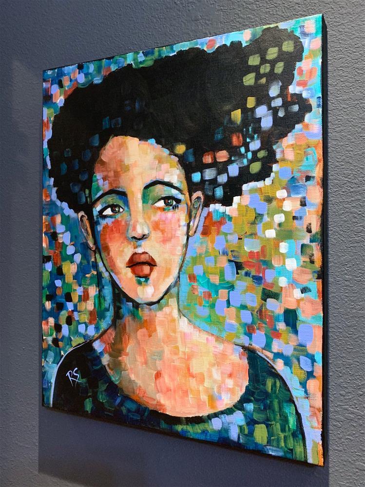 """Portrait of Whitney"" original fine art by Roberta Schmidt ArtcyLucy"