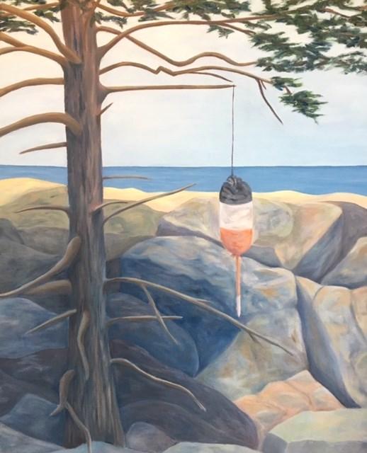 """Cairn"" original fine art by Karen Collins"