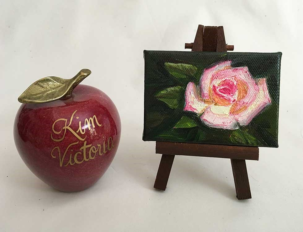"""Rose Peace Miniature"" original fine art by Kim Victoria"
