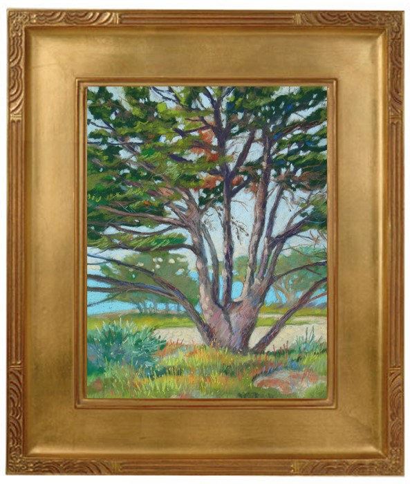 """Cypress at Carmel Beach"" original fine art by Rhett Regina Owings"