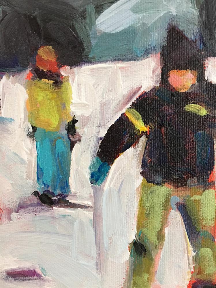 """Beginners' Slope"" original fine art by Shelley Garries"
