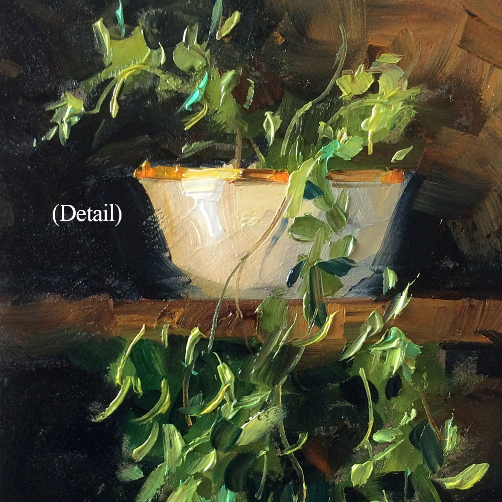 """TRAILING IVY"" original fine art by Tom Brown"