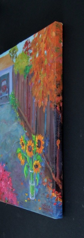 """Mystery Sunflowers"" original fine art by Patricia Musgrave"