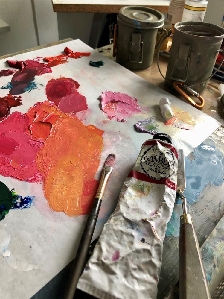 """Coral Rose"" original fine art by Cathleen Rehfeld"