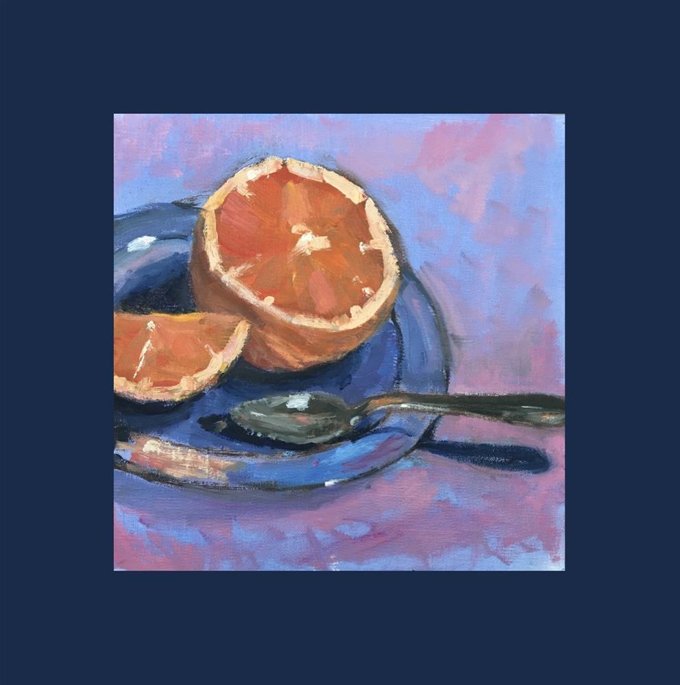 """""""Grapefruit Spoon"""" original fine art by Victoria  Biedron"""