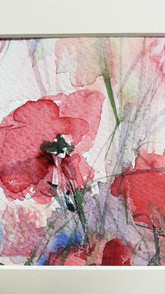 """Poppies"" original fine art by Marlena Czajkowska"