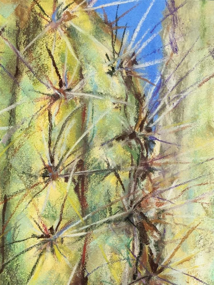 """""""Saguaro Detial"""" original fine art by Jean Krueger"""