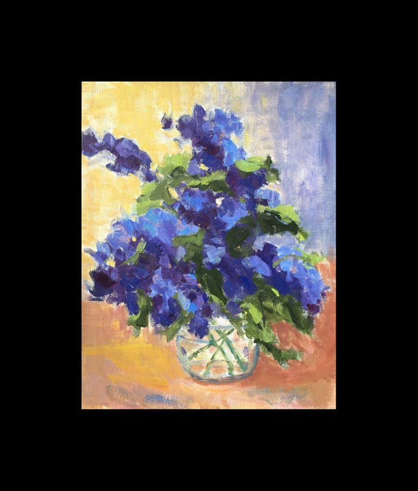 """Backyard Bouquet - Lilacs"" original fine art by Victoria  Biedron"