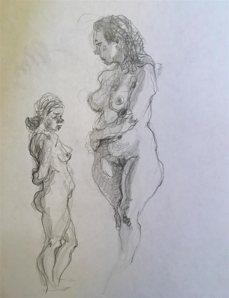 """Figure54 (double sided)"" original fine art by Katya Minkina"